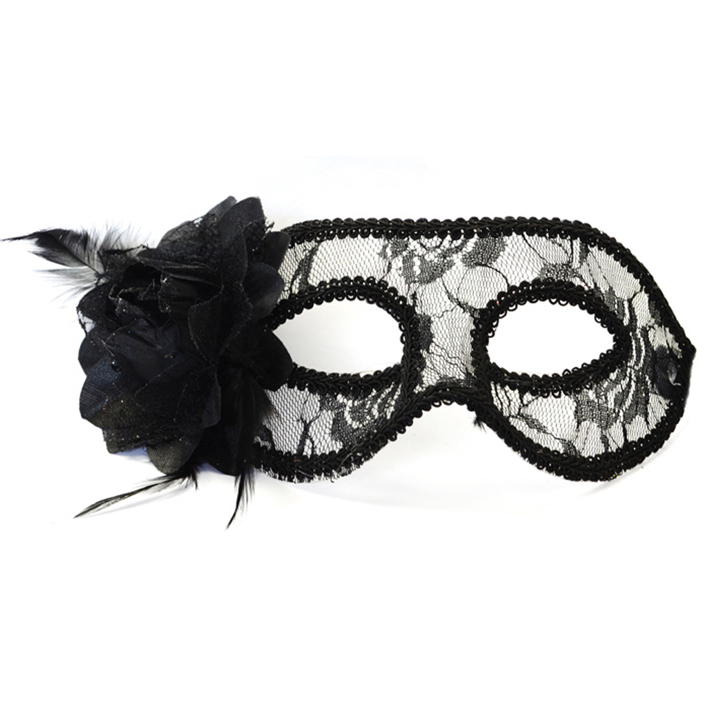 Party-Maske Fasching Maskenball Kaneval Gesichtsmaske schwarz Venedig Augenmaske