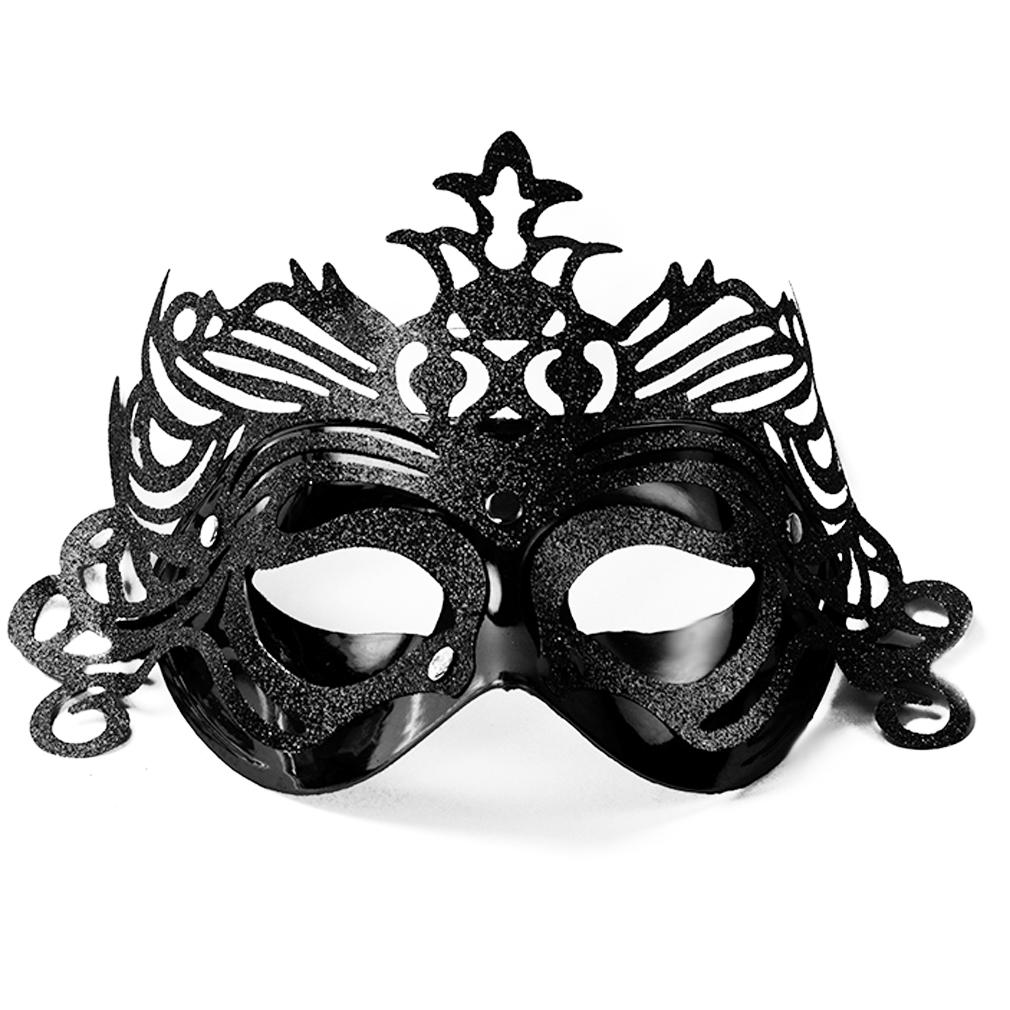 Party-Maske Fasching Maskenball Kaneval schwarze Gesichtsmaske Venedig Augenmaske