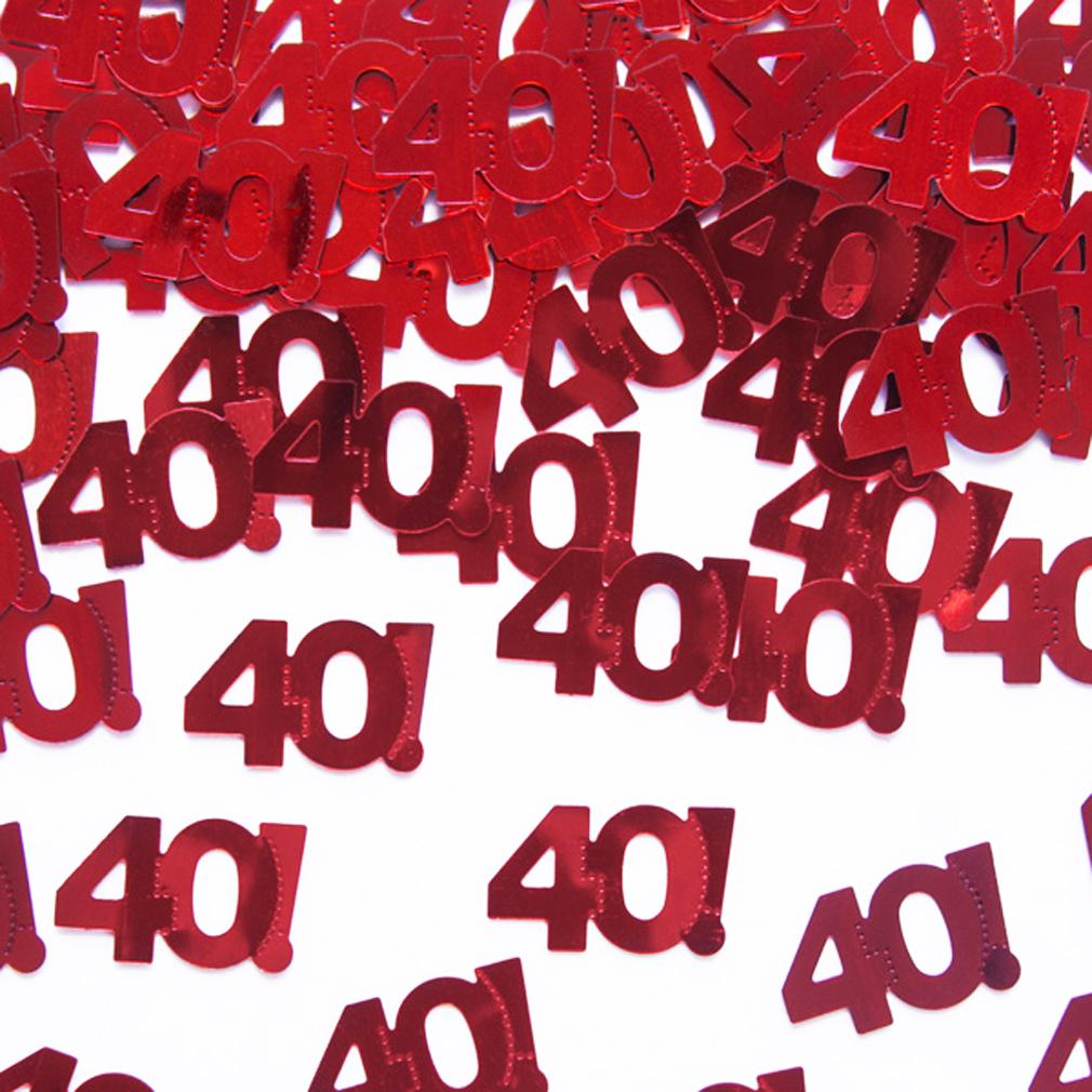 Streudeko Tischdeko rot 40 Geburtstag Jubiläum 40. Geburtstags-Party