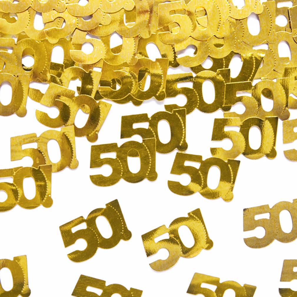 Streudeko Tischdeko gold-farben 50 Geburtstag Jubiläum 50. Geburtstags-Party