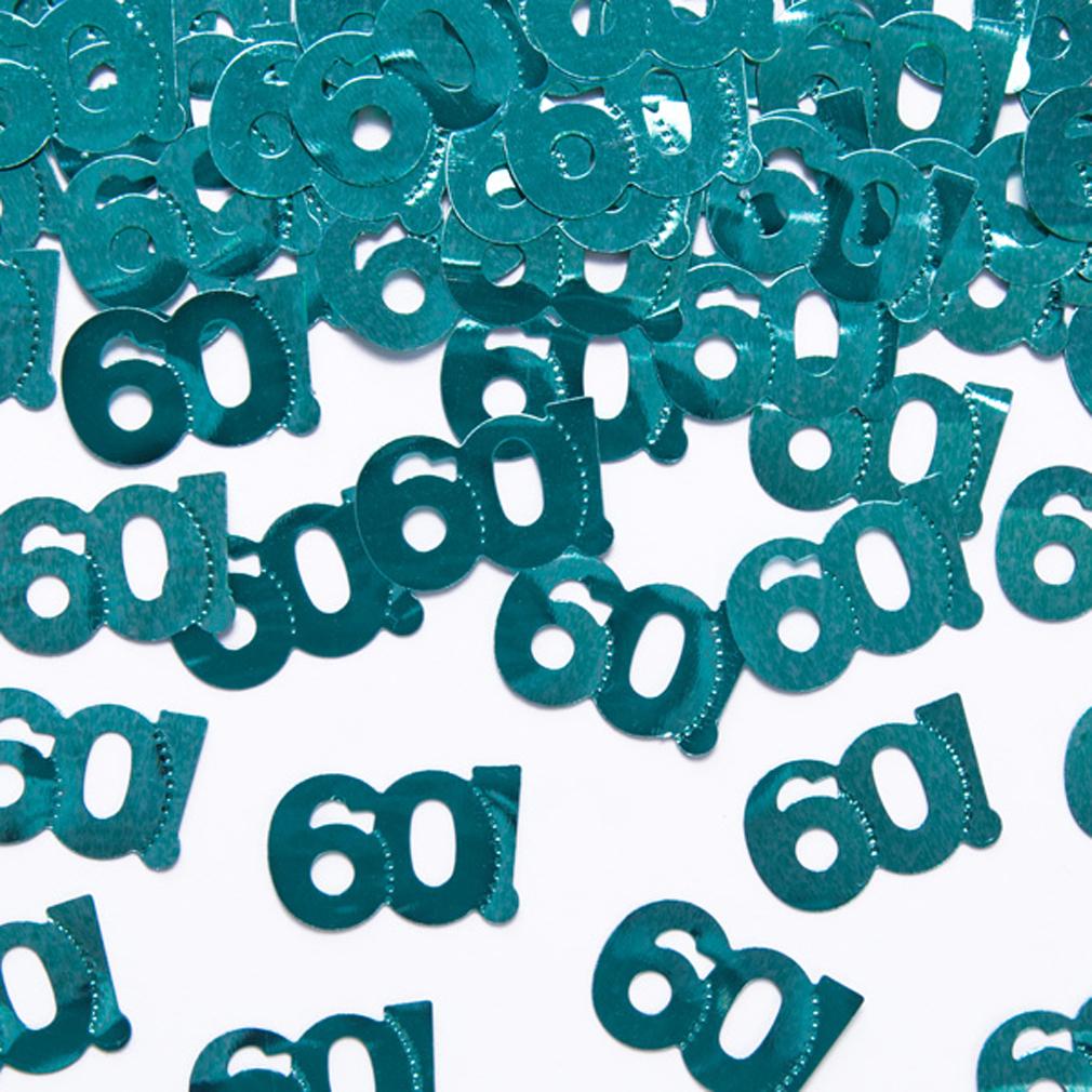 Streudeko Tischdeko 60 Geburtstag Jubiläum blau-grün 60. Geburtstags-Party
