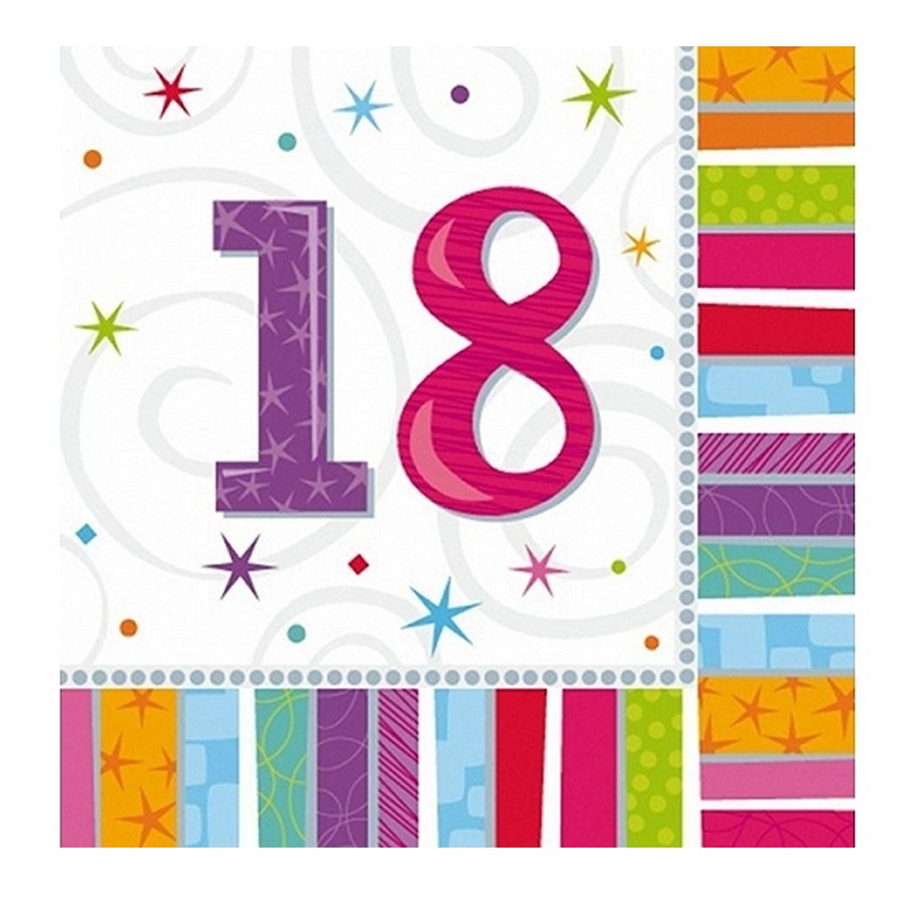Servietten 18 Geburtstag Zahl 18 Geburtstagsfeier Geburtstagstisch