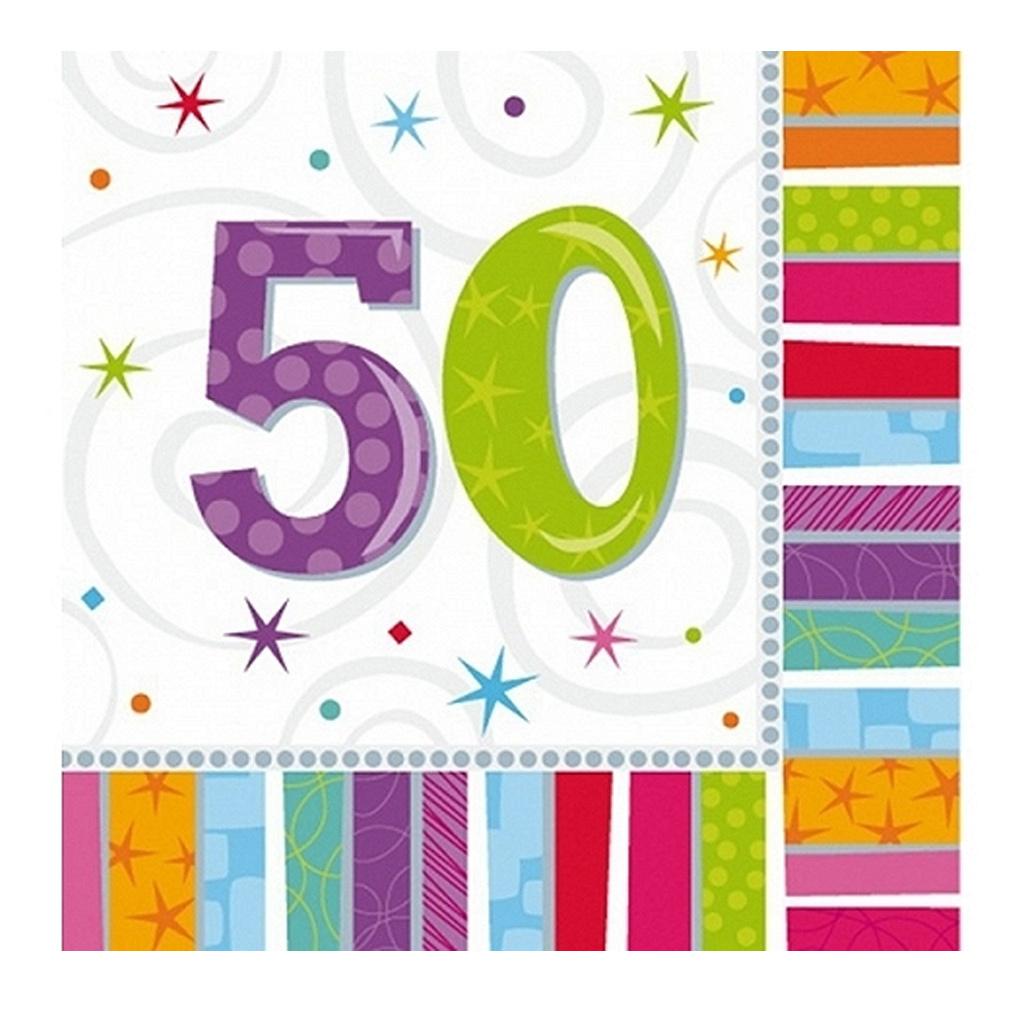 Servietten 50. Geburtstag Zahl 50 Geburtstagsfeier Geburtstagstisch Party