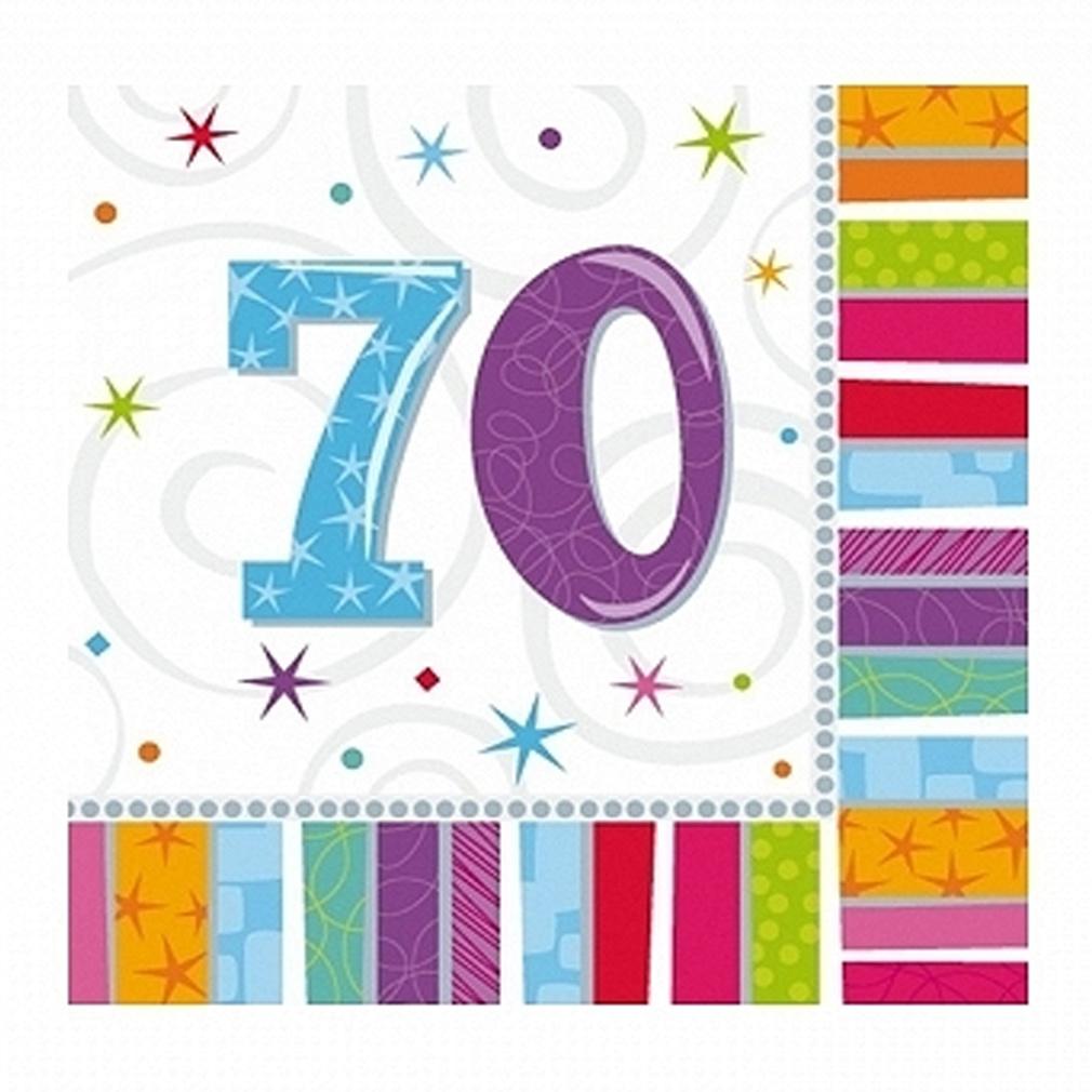 Servietten 70. Geburtstag Zahl 70 Geburtstagsfeier Geburtstagstisch Party