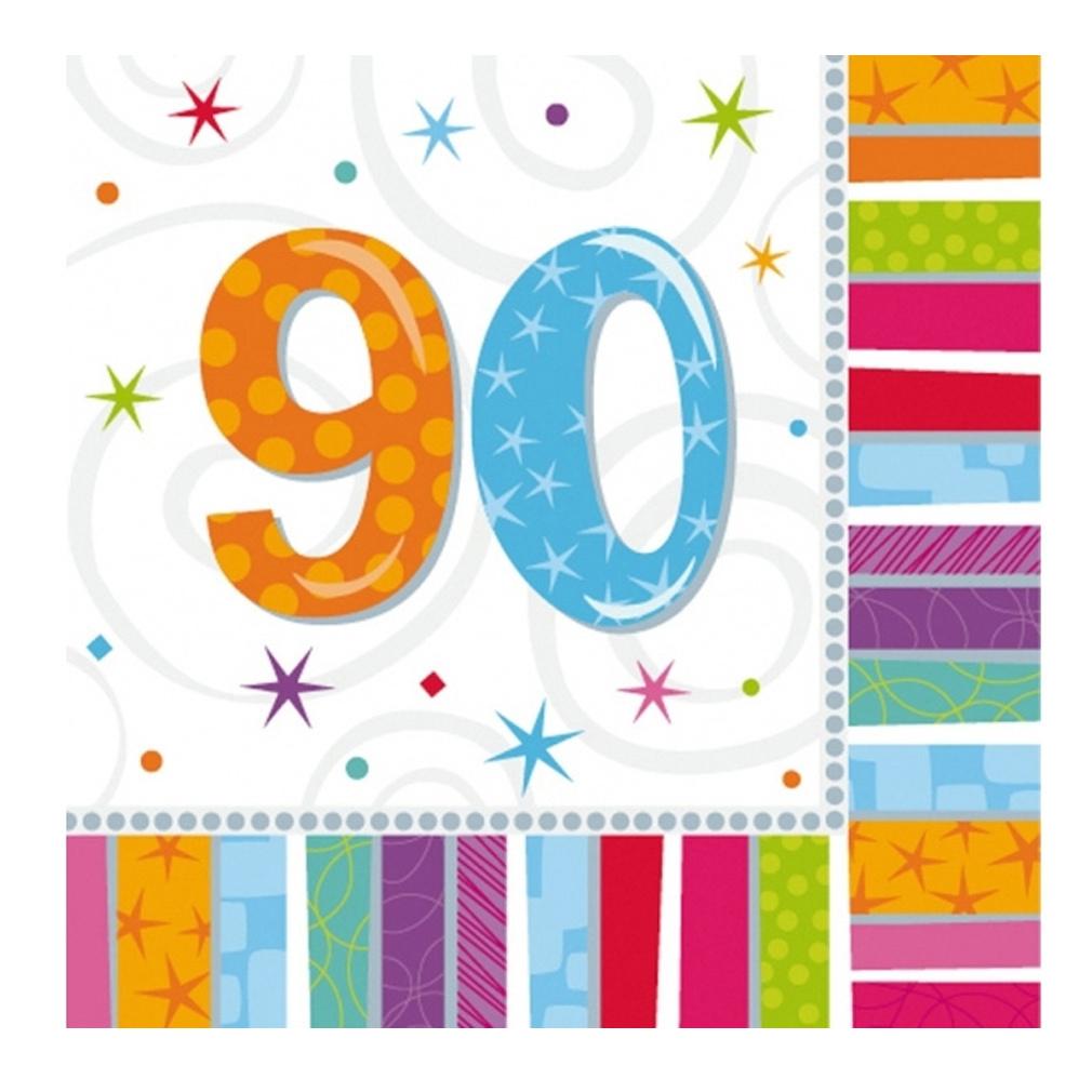 Servietten 90. Geburtstag Zahl 90 Geburtstagsfeier Geburtstagstisch Party