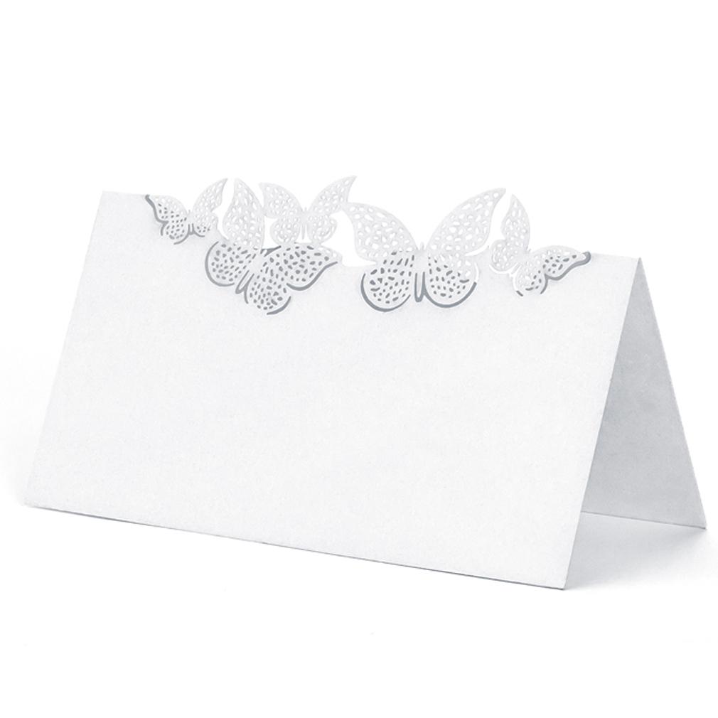 20x Platzkarte Tischkarte Hochzeit Taufe, Tischdekoration mit Schmetterlingen