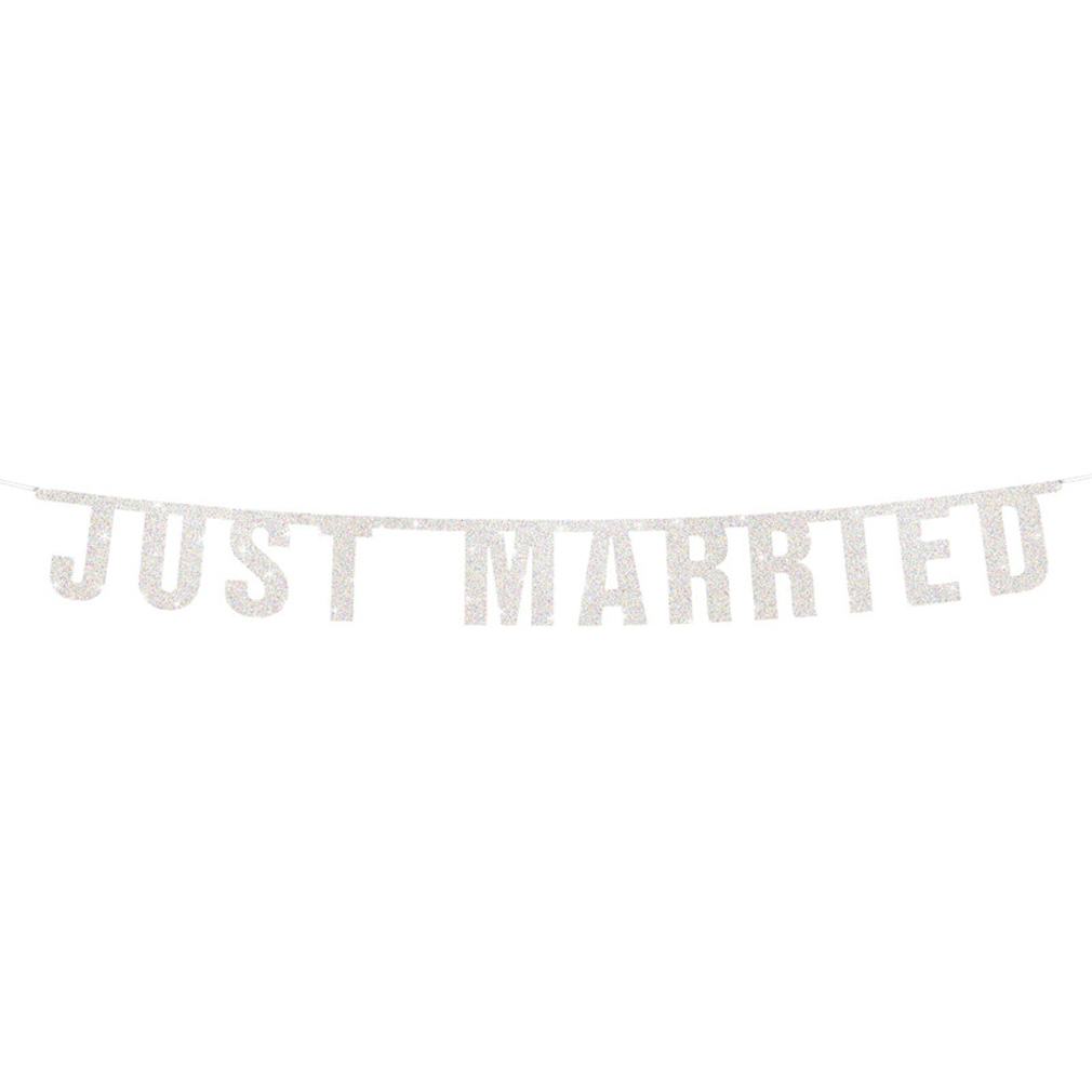 Girlande Just Married - Hochzeit Hochzeitsfeier Hochzeits-Girlande