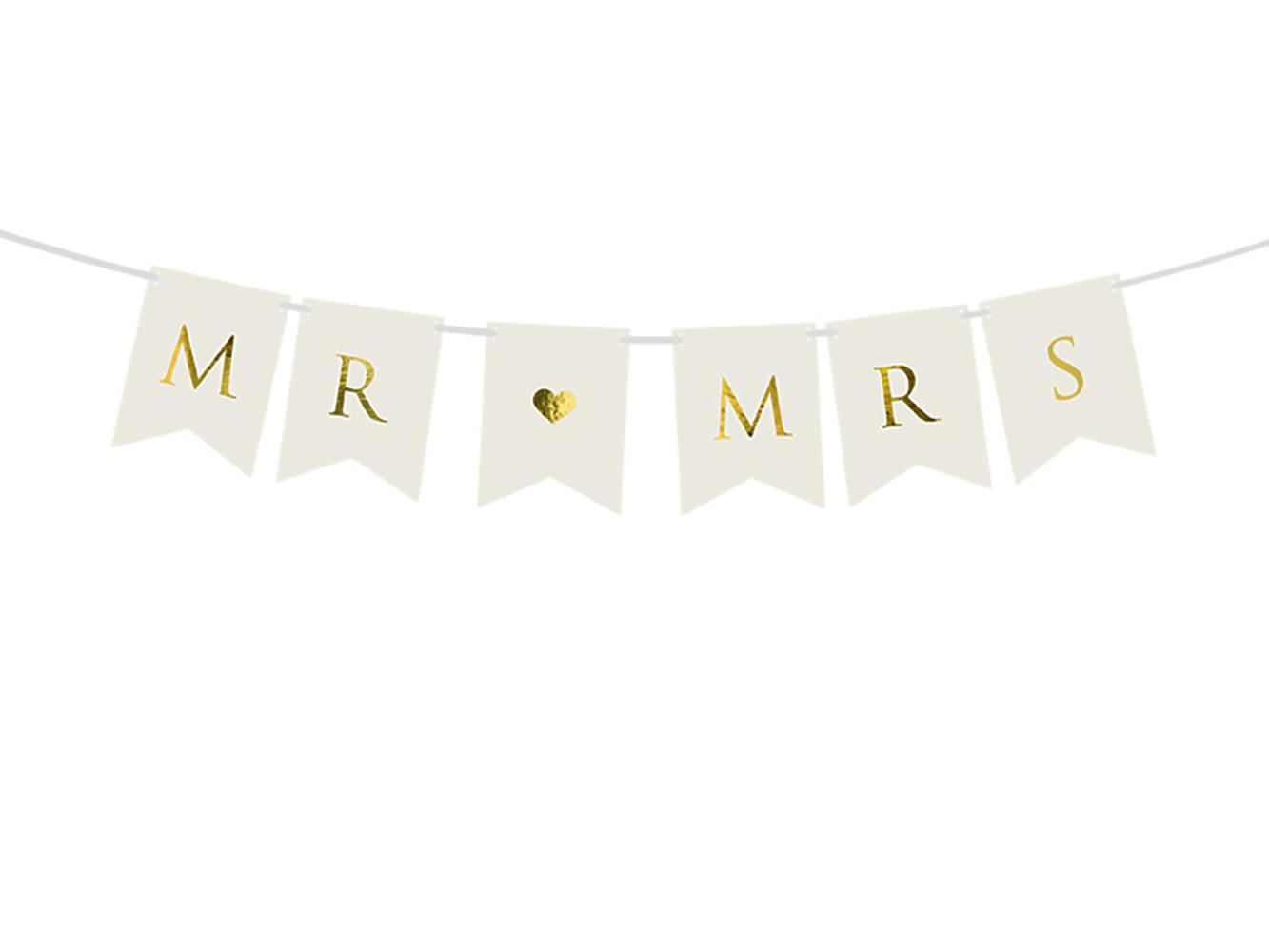 1x Girlande + Beschriftung MR & MRS - Hochzeitsfeier Hochzeits-Girlande