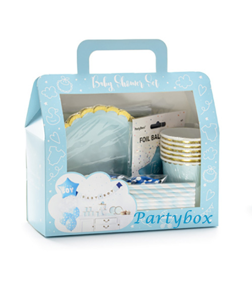 Babyparty-Deco Set Jungen Boy blau Komplett-Set 49 Teile
