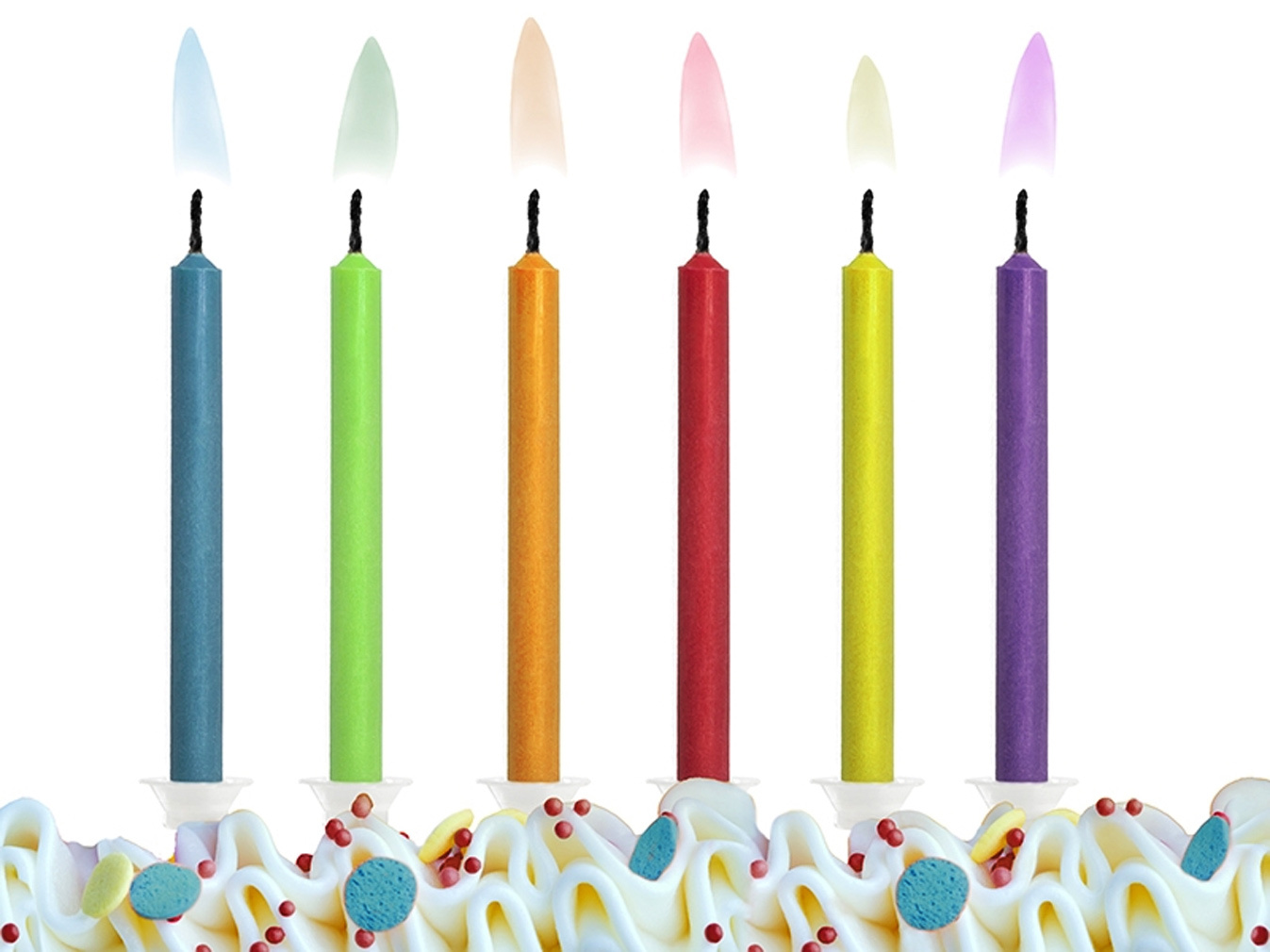 50 kerzen mit farbiger bunter flamme geburtstagskerze. Black Bedroom Furniture Sets. Home Design Ideas
