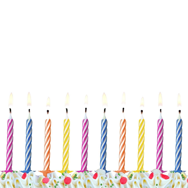 60 Kerzen bunte Geburtstagskerzen Tortenkerze Kuchenkerze Party Geburtstagsfeier