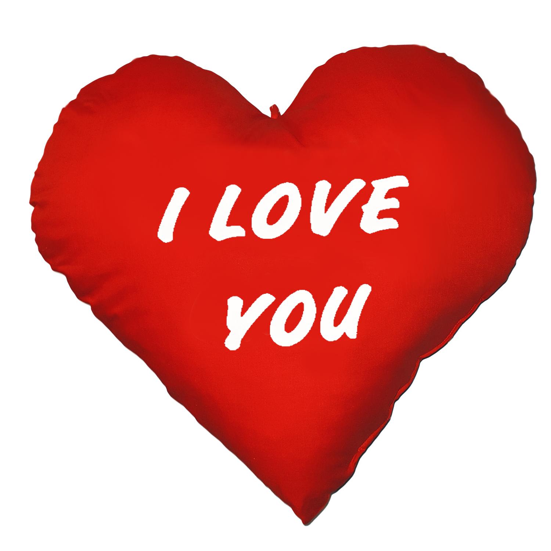 Herzkissen XXL I Love You Kuschelkissen Kissen-Herz zum Kuscheln