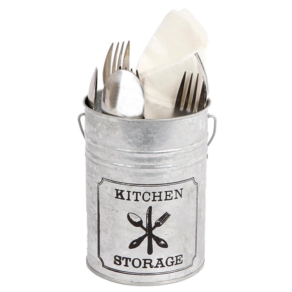 Zink Besteckkorb,Besteckkasten für Besteck-Box Löffel Gabel Messer