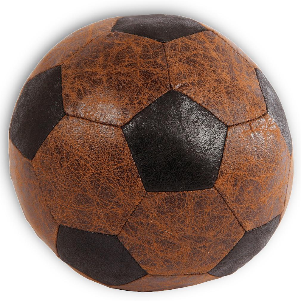 Türstopper oder Fensterstopper in Fußballoptik Dekoration weiches Material braun