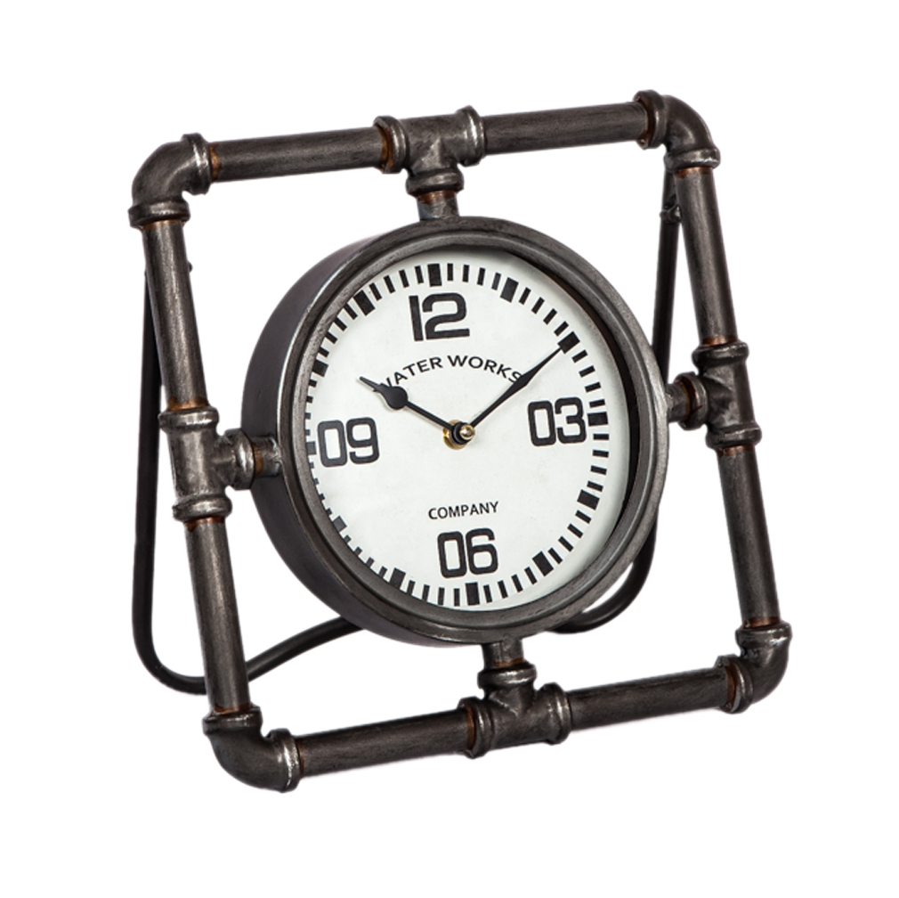 Standuhr Aufsteller Metall Dekouhr Wasseruhr Design