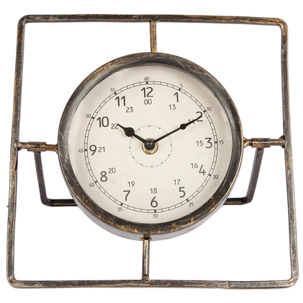 Tischuhr Uhr Modernes Design Metall Quartz-Uhrwerk Quadratisches Modell