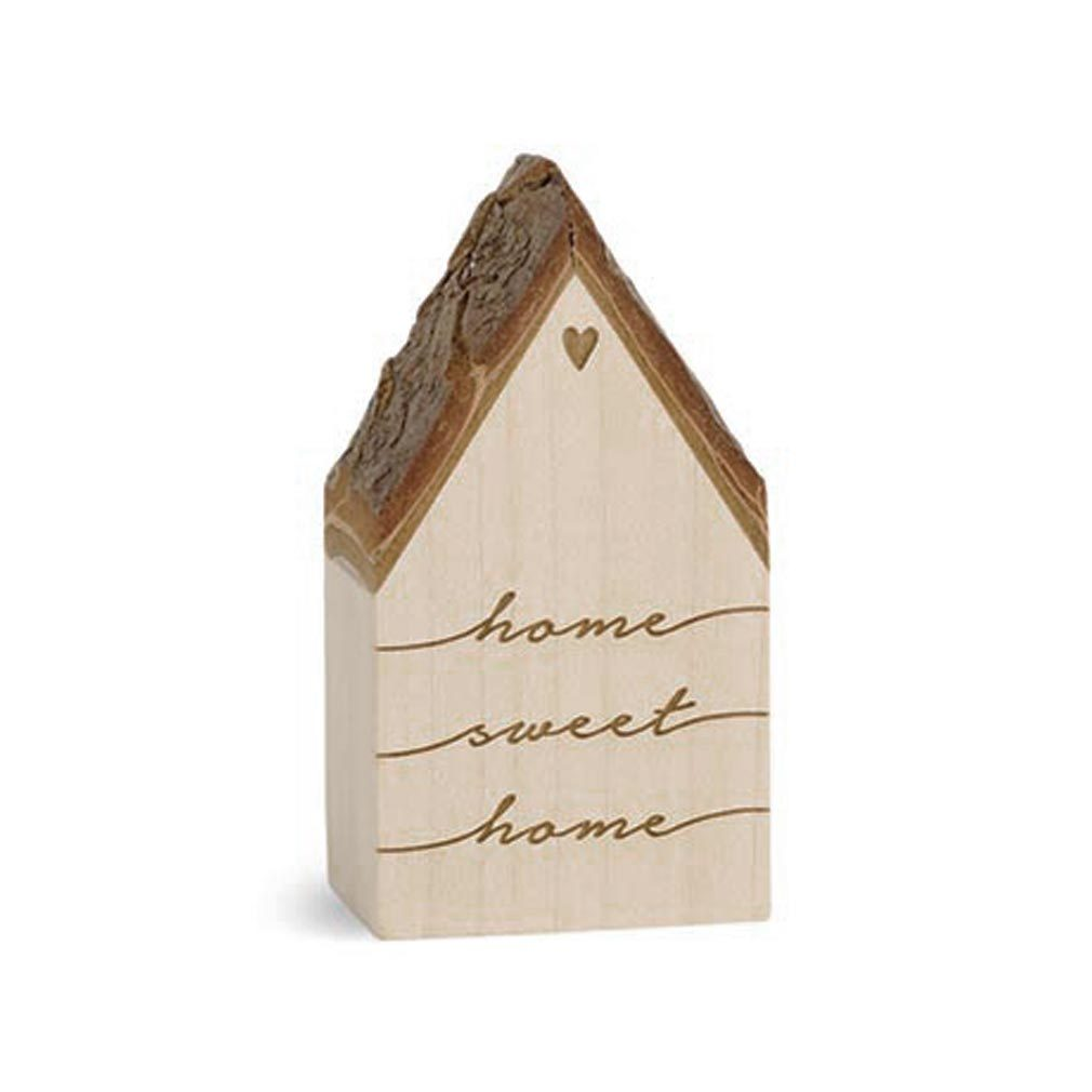 Botschaftshäuschen Holz-Haus + Lasergravur Dekoration Holzhaus Botschaft Spruch