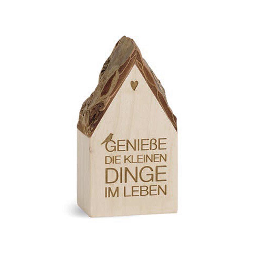 Botschaftshäuschen Holz-Haus + Lasergravur Holzhaus Botschaft Spruch Dekoration
