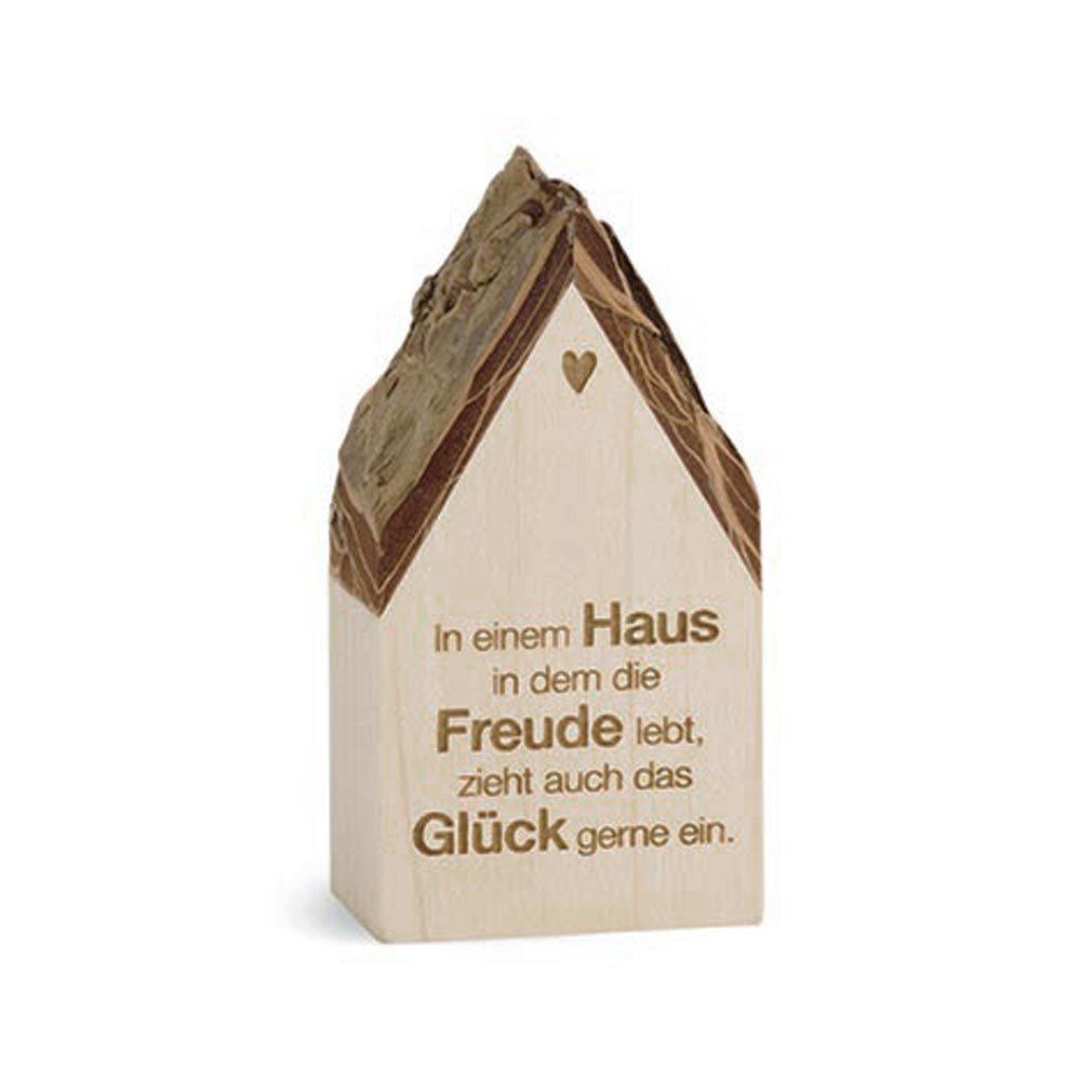 Botschaftshäuschen Dekoration Holz-Haus + Lasergravur Holzhaus Botschaft Spruch